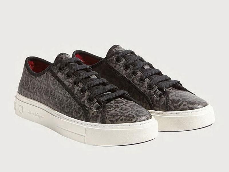 Sneakers Gancini - Gris / Negro